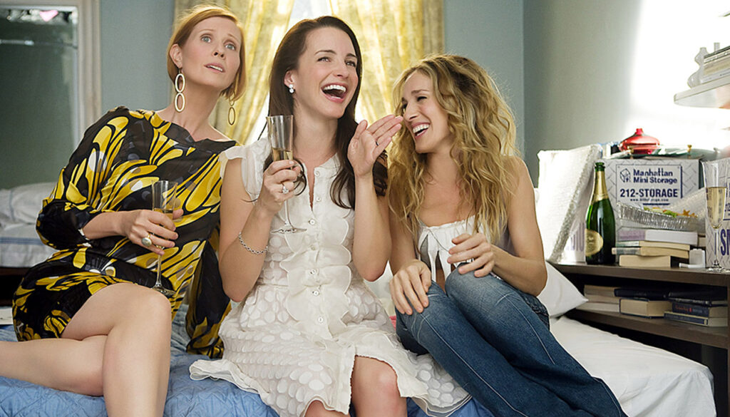 Cynthia Nixon, Kristin Davis, and Sarah Jessica Parker in Sex and the City